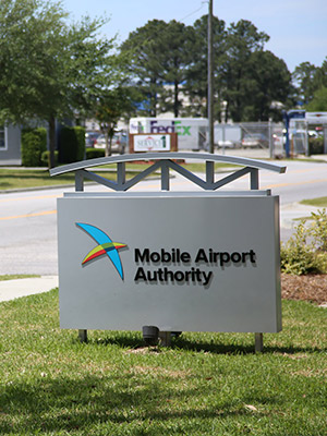 Mobile Airport Authority sign