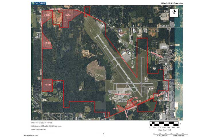 Properties available for lease at the Mobile Regional Airport