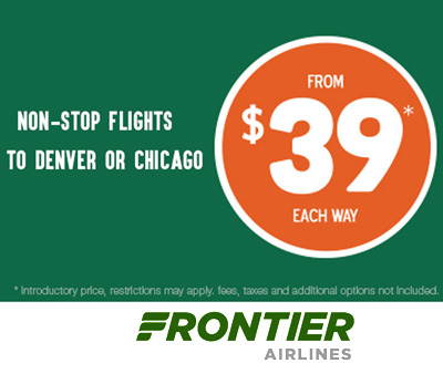 Non Stop Flights to Denver or Chicago from $39 each way