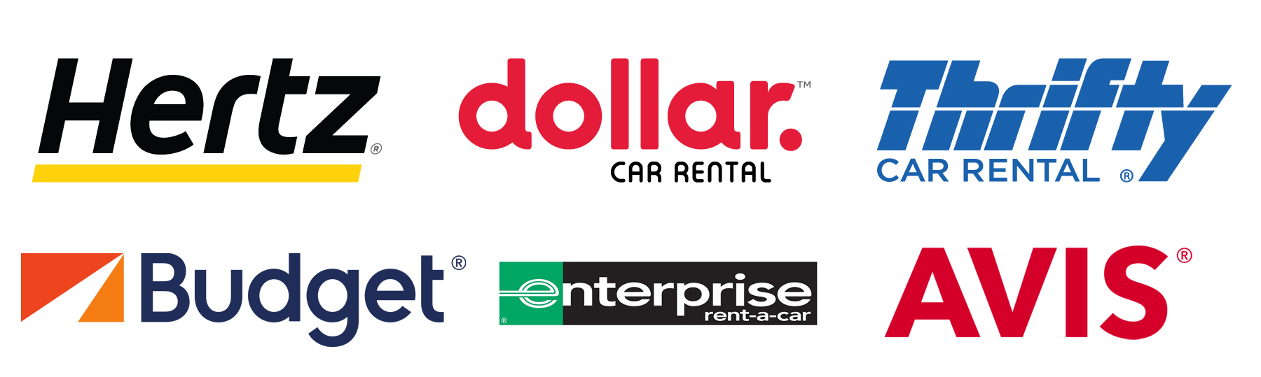 graphic listing car rental companies