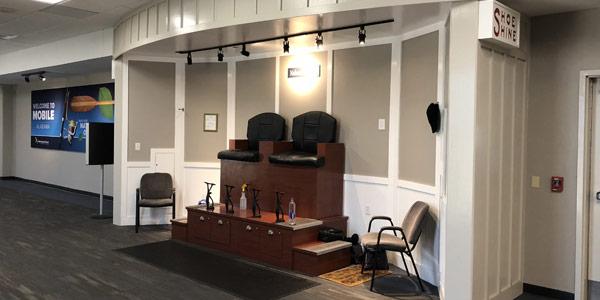 MRA Amenities include a staffed shoe shine station