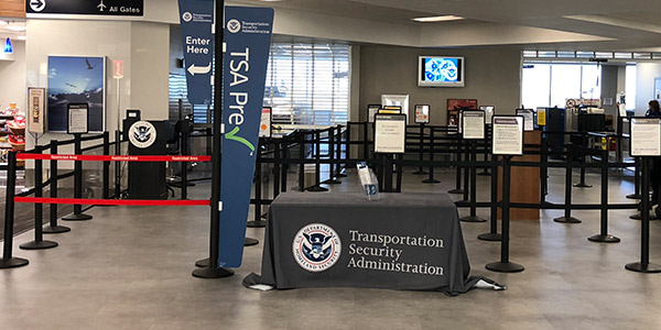 TSA terminal at Mobile Airport